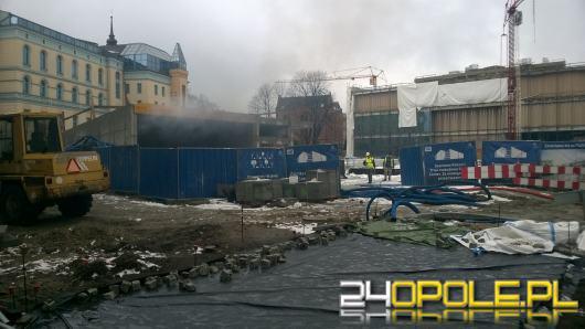 Pożar na budowie parkingu podziemnego