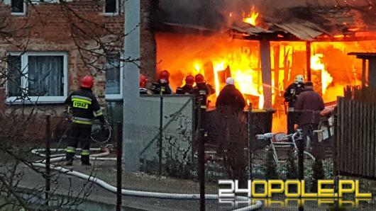 Pożar stolarni w Opolu, 5 zastępów straży walczyło z ogniem