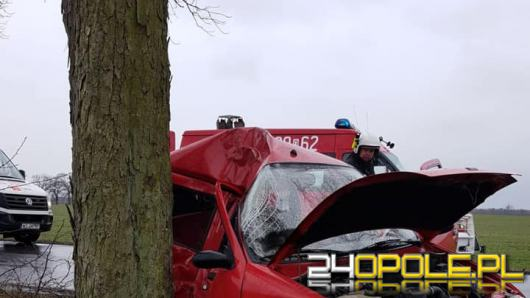 21-latek nie opanował pojazdu i uderzył w drzewo
