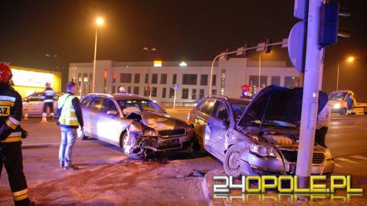Wypadek na skrzyżowaniu Ozimskiej z Horoszkiewicza