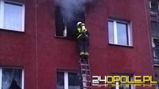 Strażacy walczyli z pożarem mieszkania w Kozłowicach