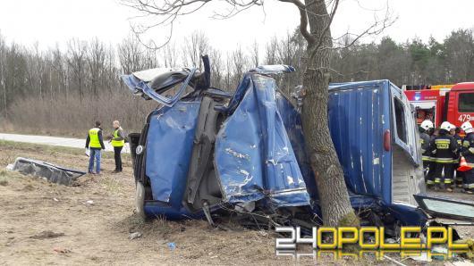 Śmiertelny wypadek pod Olesnem. Kierowca pijany