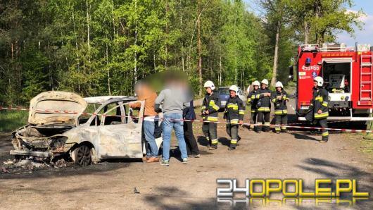 Tragedia pod Namysłowem. W spalonym aucie znaleziono ciała dwóch osób