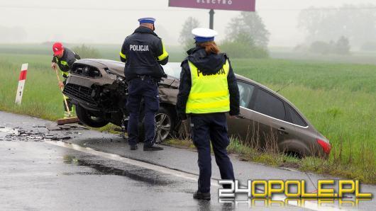 Kolizja nieoznakowanego radiowozu na obwodnicy Opola