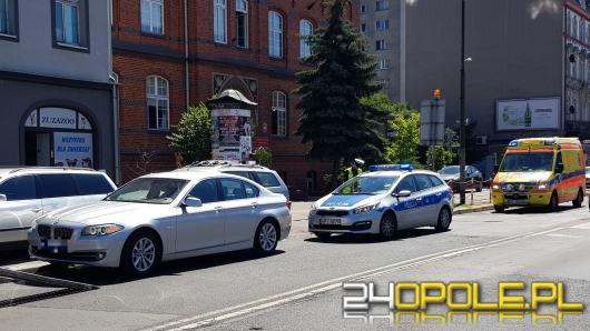 Zderzenie osobówek na Wrocławskiej w Opolu