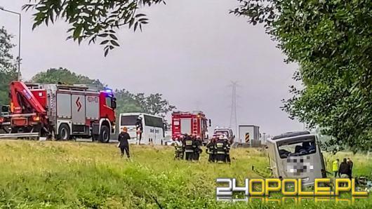 Niedzielny wypadek ukraińskiego autobusu. Kierowca usłyszał zarzuty
