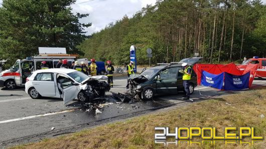 Śmiertelny wypadek na trasie Opole-Kluczbork. Zablokowana DK 45 na wysokości Osowca
