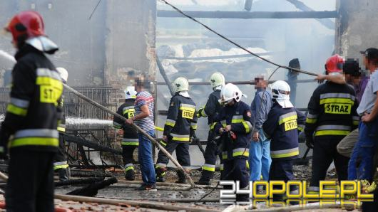 20 krów spłonęło podczas pożaru stodoły w Chróścinie