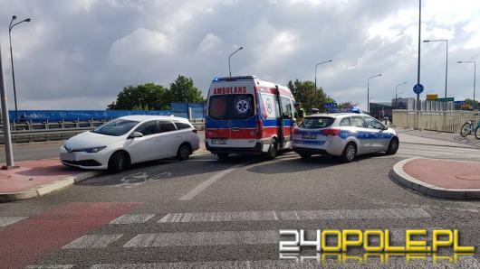 Potrącenie rowerzystki na skrzyżowaniu Ozimskiej z Rejtana w Opolu