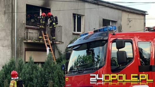 Pożar mieszkania w Niewodnikach