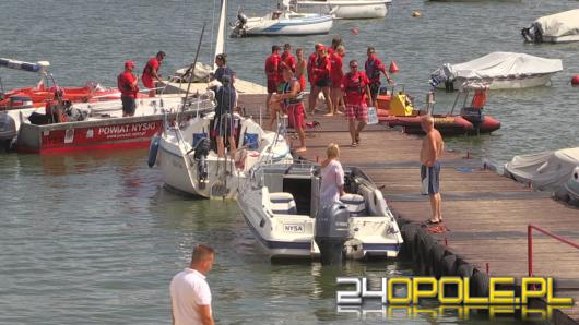 Podczas rejsu po jeziorze nyskim zaginął mężczyzna