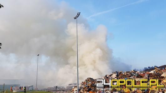 Trwa akcja gaśnicza na składowisku odpadów w Kędzierzynie Koźlu