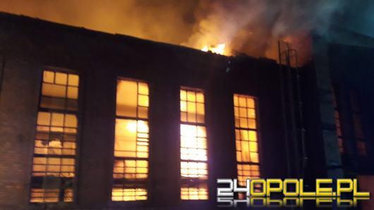 Pożar w hucie w Ozimku, strażacy walczyli z ogniem kilka godzin