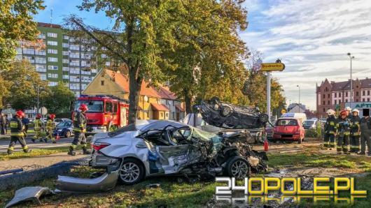 Niebezpieczny rajd mieszkańca Opolszczyzny po Raciborzu. Staranował 4 auta