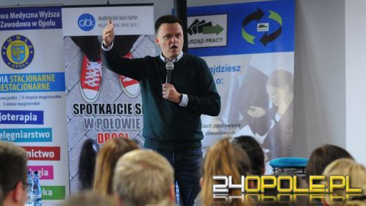 Szymon Hołownia gościem spotkania podsumowującego Ogólnopolski Tydzień Kariery w Opolu