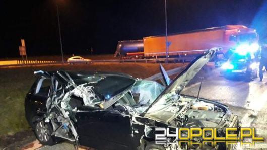Wypadek w pobliżu zjazdu na A4 w Krapkowicach