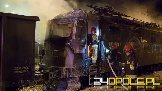 W Kluczborku zapaliła się lokomotywa elektryczna