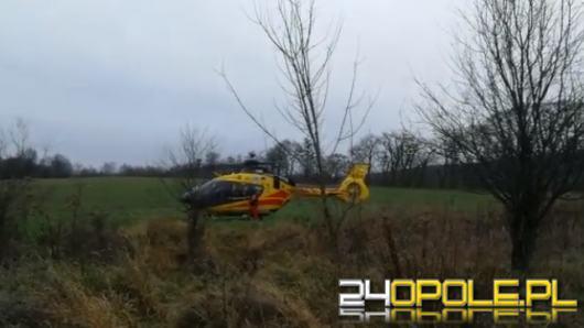 Wypadek na placu budowy w Żyrowej. Lądował śmigłowiec LPR