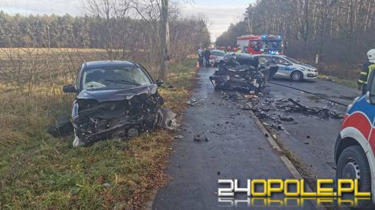 Groźny wypadek w Bierawie. Wśród czterech poszkodowanych jest dziecko
