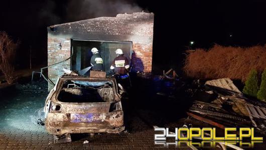 W Rozwadzy spłonął samochód osobowy