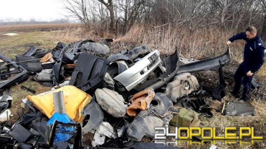 Opony i części samochodowe wywoził do lasu. 38-latek z gminy Korfantów namierzony