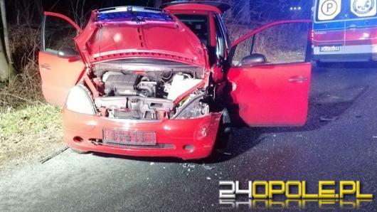 Niebezpieczne zdarzenie na trasie Zdzieszowice - Góra Św. Anny. Jedna osoba ranna