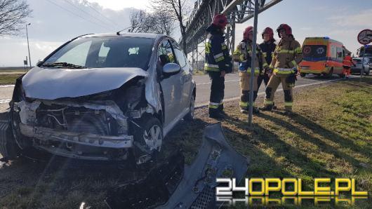 3 samochody zderzyły się pod taśmociągiem w Źlinicach