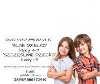 """Zajęcia grupowe dla dzieci """"Silne Dziecko"""""""