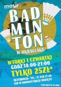 BADMINTON w Hali Widowiskowo-Sportowej