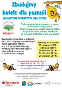 Wakacyjne warsztaty dla uczniów szkół podstawowych: Zbudujmy hotele dla pszczół