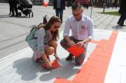 Święto Flagi - Układanie Flagi w Opolu