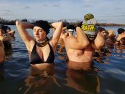 Mikołajkowe Morsowanie na Kąpielisku Bolko w Opolu