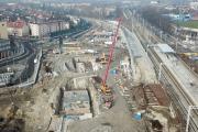 Ogrom pracy przy budowie Centrum Przesiadkowego Opole Wschodnie. Widać efekty - 20210224230909_foto_24opole_0007.jpg