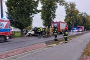 Kierujący fordem uderzył w drzewo. Wypadek w gminie Wołczyn - 20211016194709_received_50.jpg