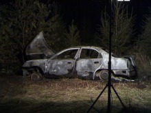 43-latek spłonął żywcem w samochodzie