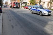 Plama oleju na ulicy Katowickiej
