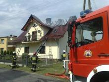 Piorun przyczyną pożaru w Kolonowskiem