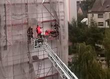 Dramatyczna akcja ratunkowa na ul. Jodłowej