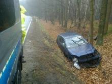 Nadmierna prędkość była też przyczyną wypadku w Jełowej. <i>(Fot: Pomoc Drogowa Opole)</i>