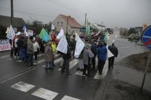 Rozpoczęła się trzydniowa blokada drogi w Czarnowąsach