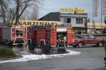 Milionowe straty po porannym pożarze magazynu