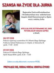 29-letni Jurek z Opola walczy z ostra białaczką szpikową. Poszukiwany bliźniak genetyczny