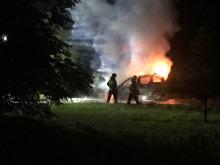 W nocy spłonęło auto przy ulicy Częstochowskiej w Opolu.