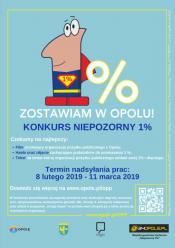 """""""Niepozorny 1 procent"""" - o nagrody w konkursie mogą walczyć także mieszkańcy Opola"""