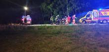 <i>(Fot. Dawid  Zderzenie samochodu osobowego ze skuterem na drodze krajowej 45 w Osowcu. )</i>