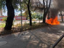 Na Armii Krajowej spłonęło auto