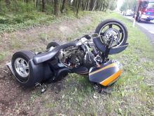 Kolejny wypadek z udziałem trójkołowca. Interweniował śmigłowiec LPR