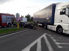 Kierujący samochodem ciężarowym wymusił pierwszeństwo przy wjeździe na A4