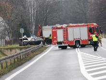 Zablokowana Krajowa 46 w miejscowości Dąbrowa. Są ofiary śmiertelne