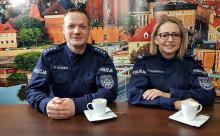 podinsp. Marzena Grzegorczyk i nadkom. Hubert Adamek - dzielnicowy to policjant pierwszego kontaktu